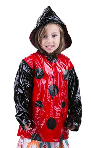 Little Girl's Red Ladybug Rain Coat Sizes Toddler / Little kids