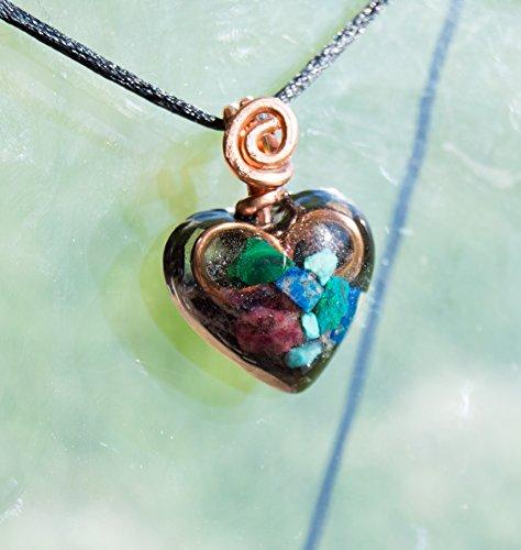 Lapis Malachite Necklace - ORGONITE® Pendant Lapis Lazuli, Malachite, Elite Shungite - Orgone Necklace - EMF Shield - 528hz attuned