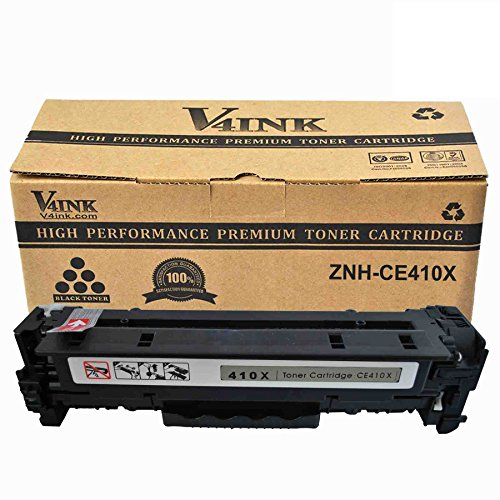 V4INK New Compatible HP Toner 305A CE410A 305X CE410X Black Toner Cartridge Replacement for HP LaserJet Pro 300 Color MFP M375nw HP LaserJet Pro 400 Color M451dn M451dw MFP M451nw MFP M475dn MFP M475dw Printer