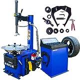 1.5 HP Tire Machine Tire Changer Wheel Changers Machine Combo Balancer Rim Clamp 950-680 w/ Air Bead Blaster Function