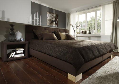 Iovivo de la tapicería de cama de paraíso (Con sin 5-zonas-colchón de espuma fría), gomaespuma, marrón, LIEGEFLÄCHE CA.180X200CM: Amazon.es: Hogar