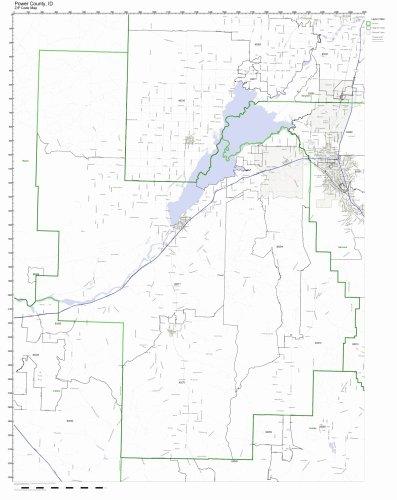 Power County  Idaho Id Zip Code Map Not Laminated