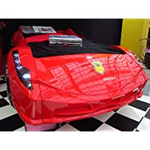 Childrens BLACK, WHITE, RED Ferrari 458 Italia Style Spider Racing Car Bed Frame (Red)