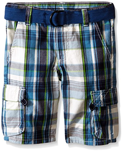 Gioberti Boys Plaid Shorts with Front Button /& Zipper and Belt Loop Waistband