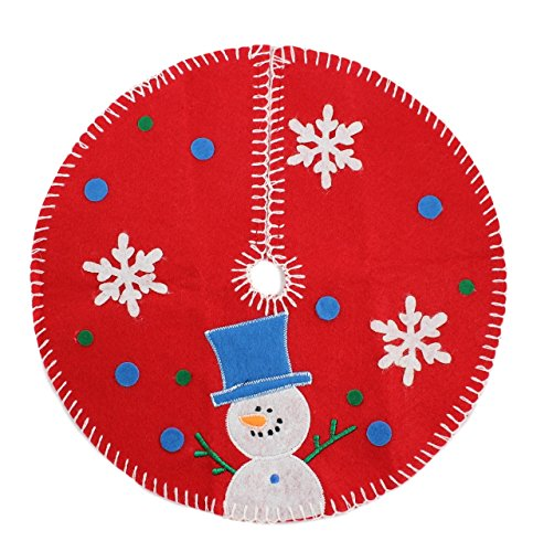 Tiny 12-inch Snowman Miniature Mini Christmas Tree Skirt for Table Top Tree