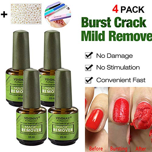 Magic Nail Polish Remover, Professional Removes Soak-Off Gel Polish in 3-5 Minutes, Easily Quickly, Don't Hurt Your Nails - 15 ml