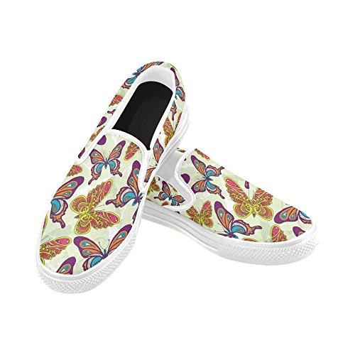 Unik Debora Tilpasset Mote Kvinners Joggesko Uvanlige Loafers Slip-on Canvas Sko Multicoloured17