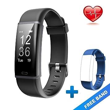 jpantech Smart Watch, Sports Watch Waterproof IP67 Fitness Tracker with Heart Rate Monitor Blood Pressure Measurement Sleep Monitor Pedometer ,Message ...