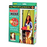 "HANDS FREE Magnetic Screen Door, Fits Any Doors up to 34""x 83"", with 18 Powerful Magnets, Insecticide Treated Discourages Annoying Bugs"