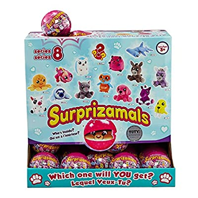 Surprizamals, 5 Pack - Mystery Balls with Collectible Plush Toy (Series 8): Toys & Games