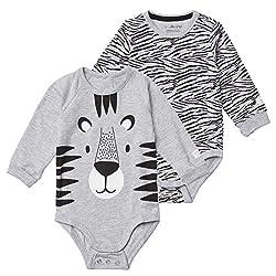 Tiny One Baby Body im 2er Set | Unisex | Mädchen und Jungen | Print | Biologische Baumwolle | GOTS | 0-18 Monate
