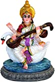 Krishna Culture Saraswati Goddess of Learning Statue Figurine Sarasvati Idol 5.5""