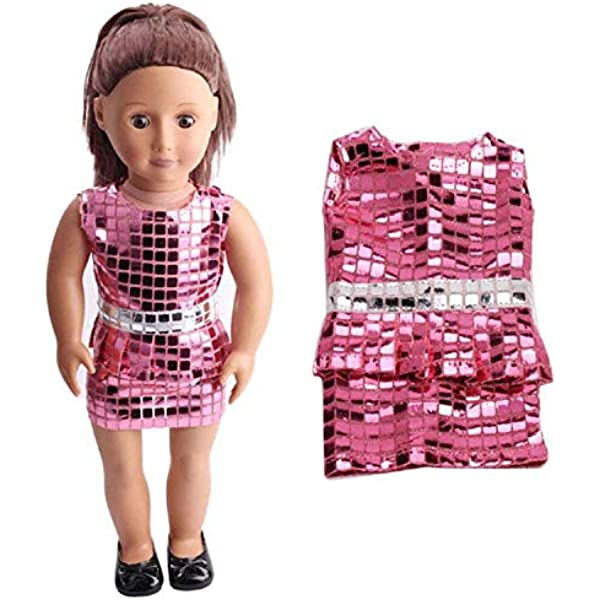 Pink Backpack with Sequins for 18 inch American Girl Doll Clothes Accessories