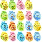 Liwely 12 Pairs Unisex-Baby No Scratch Mix Colors Assorted Mittens, 100% Cotton, Assorted animals