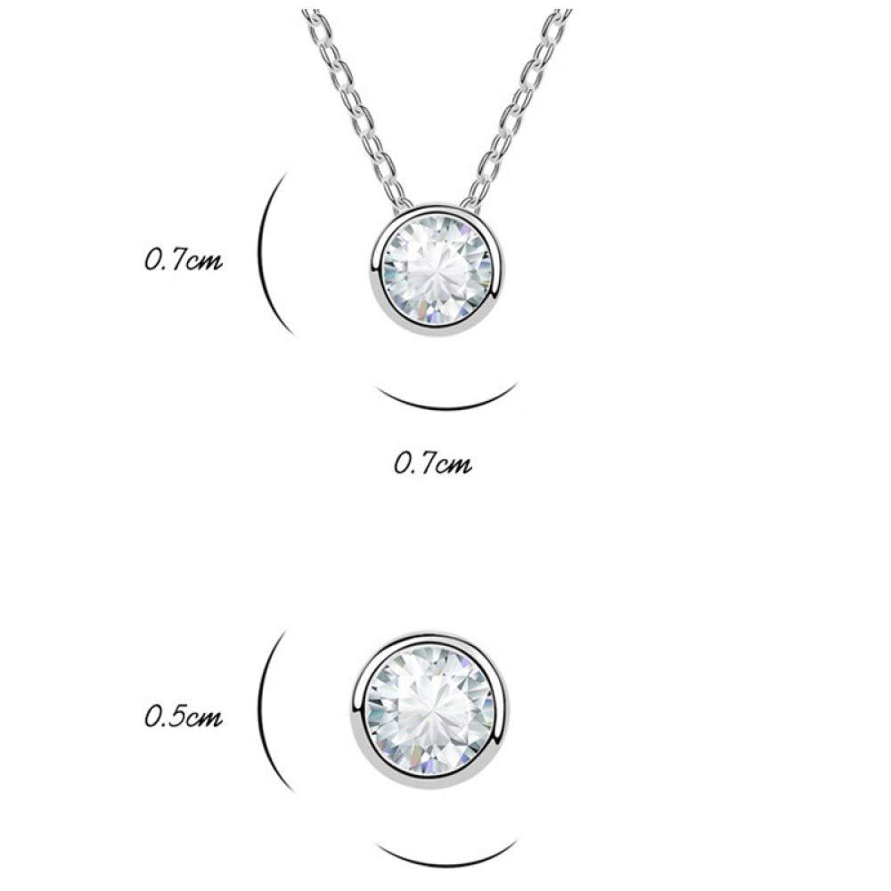 MYYQ European and American Fashion Simple Geometric Gold-Plated Zircon Jewelry Set-Diamond Love