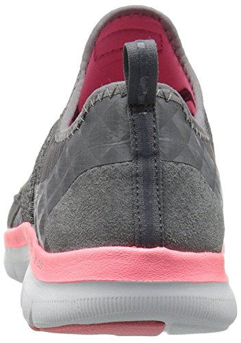 Skechers Flex Appeal 2.0 New Image Gris Rose Femmes Chaussures