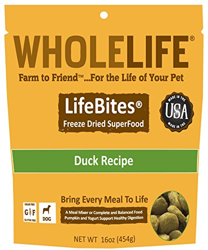 Whole-Life-Pet-LifeBites-Duck-Recipe-Freeze-Dried-Food-for-Dogs-16-oz