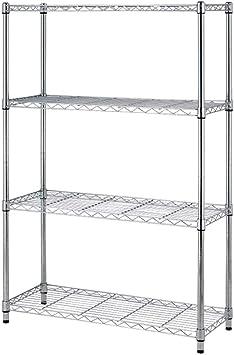 3//5 Tier Metal Wire Garage Storage Shelves Shelving Corner Shelf Rack Organize G