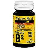 Nature's Blend Vitamin B2 100 mg - 100 Tablets