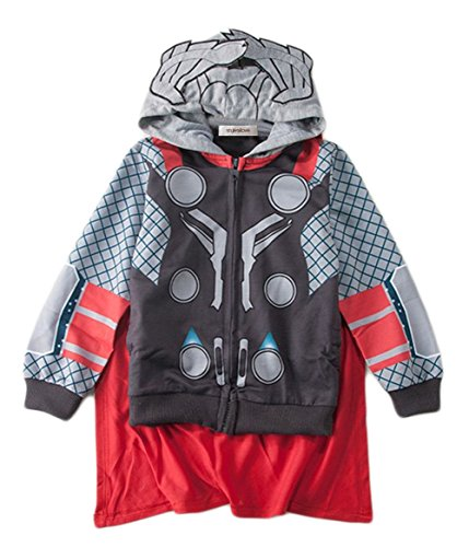 [StylesILove Super Heroes Costume Zipper Hoodie Jacket (2-3 years, Thor)] (Woman Thor Costume)