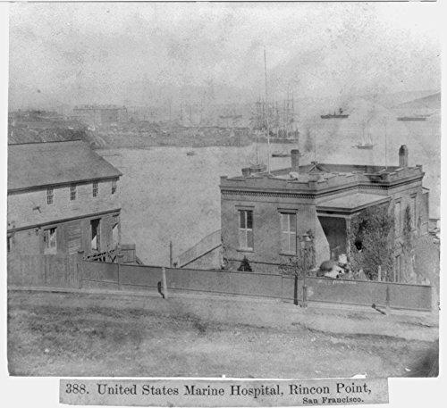 Historic Photos 1866 Photo U.S. Marine Hospital, Rincon Point, San Francisco
