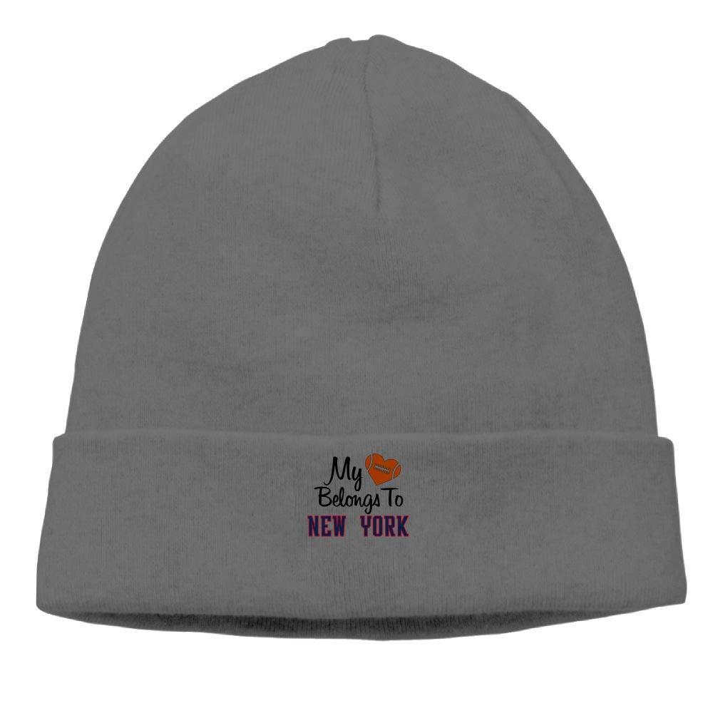 Riokk az My Hear Belongs to York Skull Hats Knit Hat Unisex DeepHeather