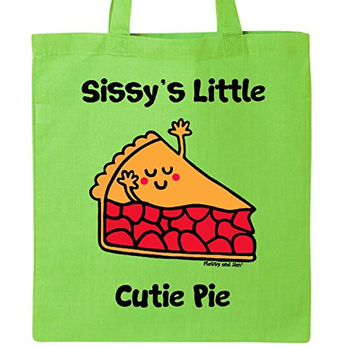 Inktastic - Sissy's little Cutie Pie Tote Bag Lime Green - Flossy And Jim