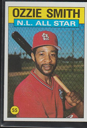 Game Nhl Star 1986 All (1986 Topps Ozzie Smith Cardinals All Star Baseball Card #704)