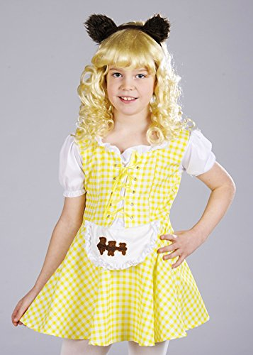 [Girls Yellow Goldilocks Costume with Bear Ears Small (4-6 years)] (Goldilocks And Bear Costumes)