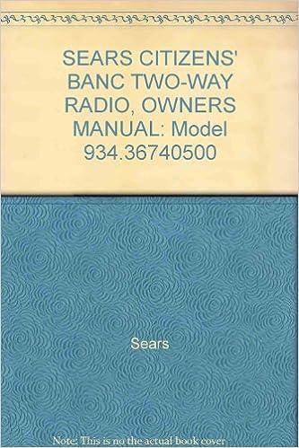 craftsman radio user manual