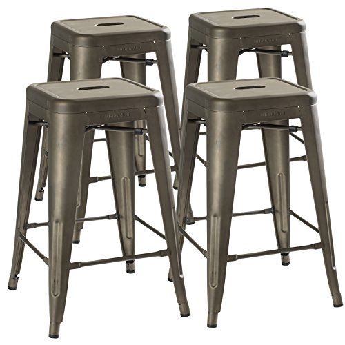 4 Stacking Counter Stools - 2