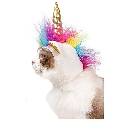 DELIFUR Traje de Perro Mascota Unicornio Sombrero Gatos Perros Peque?os Accesorio para Cachorro Cosplay
