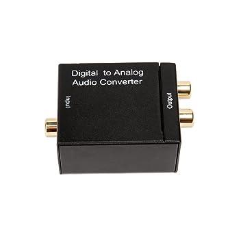 DAC de Audio, Convertidor Digital-Analógico, Óptica o Coaxial a RCA Adaptador,