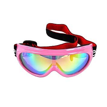 fd3905f00c46 BXT Kids Children Junior Boys Girls Professional UV400 Colored Lens Sports  Windproof Anti-Fog Snowmobile