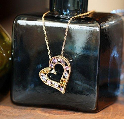 Citrine Gold Tourmaline Necklace - 7