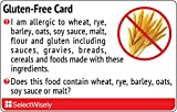 Gluten-Free Translation Card - Translated in Italian or any of 64 languages