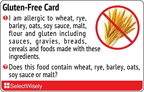 Gluten-Free Translation Card - Translated in Dutch or any of 64 languages