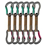 Fusion Quickdraw Bent Gate/Bent Gate (Set of 6), Burgundy/Green