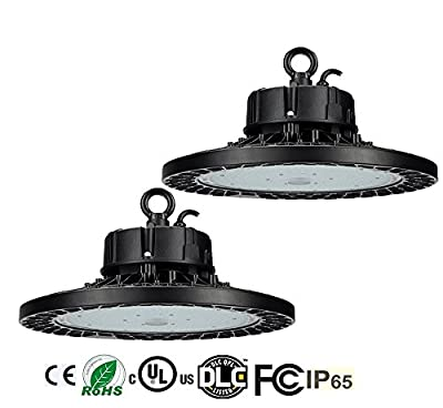 2 Pack BAT 100W-240W UFO LED High Bay Light,15000-36000 Lumens Dimmable 5000K Warehouse High Bay Lighting for Factory/Shop/Industrial/Commercial Use(UL&DLC)