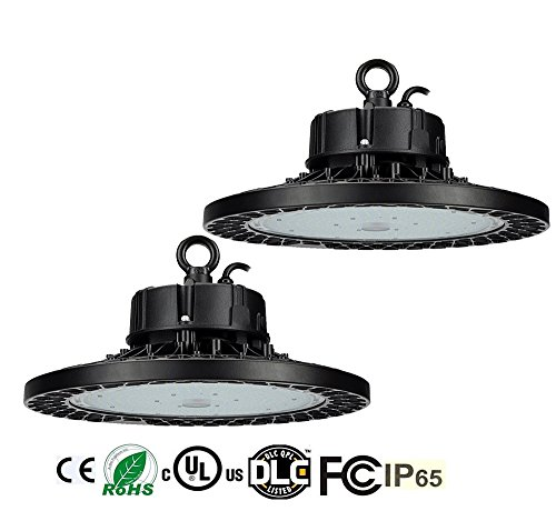 2 Pack BAT 150W (600W HPS / MH Equivalent) UFO LED High Bay Light,22500 Lumens Dimmable 5000K Warehouse High Bay Lighting for Factory/Shop/Industrial/Commercial Use(UL&DLC)