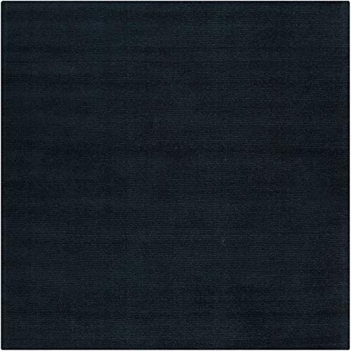 Mystique Rug Charcoal (Surya M-340 Mystique Solids and Borders Square Charcoal 9'9