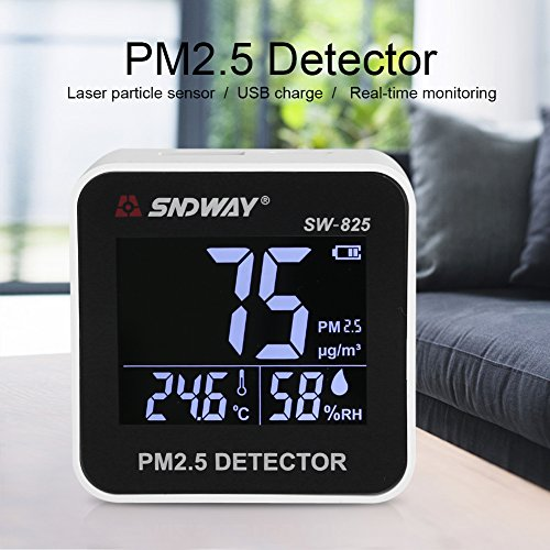 PM2.5 Detector Digital Air Quality Meter Gas Temperature Humidity Analyzer Diagnostic Monitor Health Care Tool by Yosooo (Image #8)