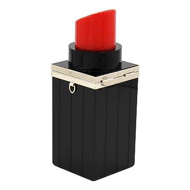 ff110c1adca1 Lovoski 女性 口紅形 リップバーム ハンドバッグ クラッチ パーティー 財布 ショルダー チェーンバッグ ギフト 全2
