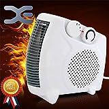Favy Fan Heater Heat Blow || Silent Fan Room Heater (White)