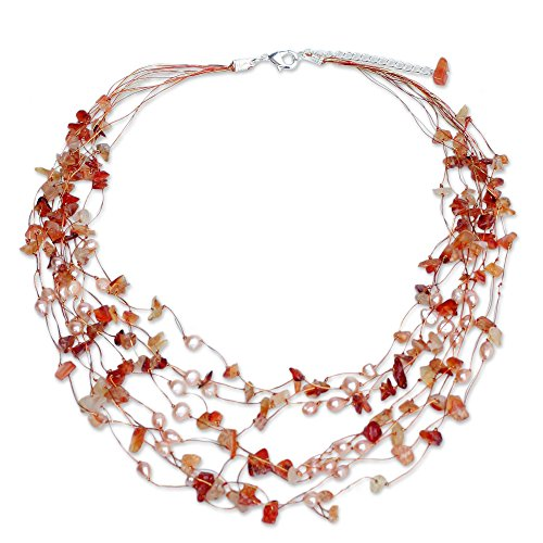 Carnelian White Necklace - 1