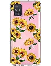 Oihxse Cristal Funda para Samsung Galaxy S11 Plus Transparente Suave TPU Flores Girasoles Amarillos Dibujo Diseño Serie Carcasa Flexible Bumper Anti-Choque Anti-Arañazos Protector (D5)