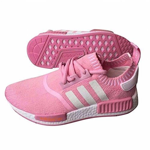 Edad Kid NMD Primeknit deportes zapatos yiki transpirable amortiguación Zapatillas de running, Niños, rosa, UK10.5=EUR28=18CM