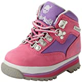 Timberland Euro Hiker Leather and Fabric Boot (Toddler/Little Kid/Big Kid),Pink/Lilac,5 M US Big Kid