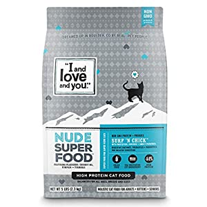 """""""I and love and you"""" Nude Food Surf ˜N Chick, Grain Free Dry Cat Food, 5 Lb 89"""