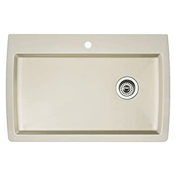 Good Blanco 511 650 Diamond Super Single Bowl Kitchen Sink, Biscuit Finish